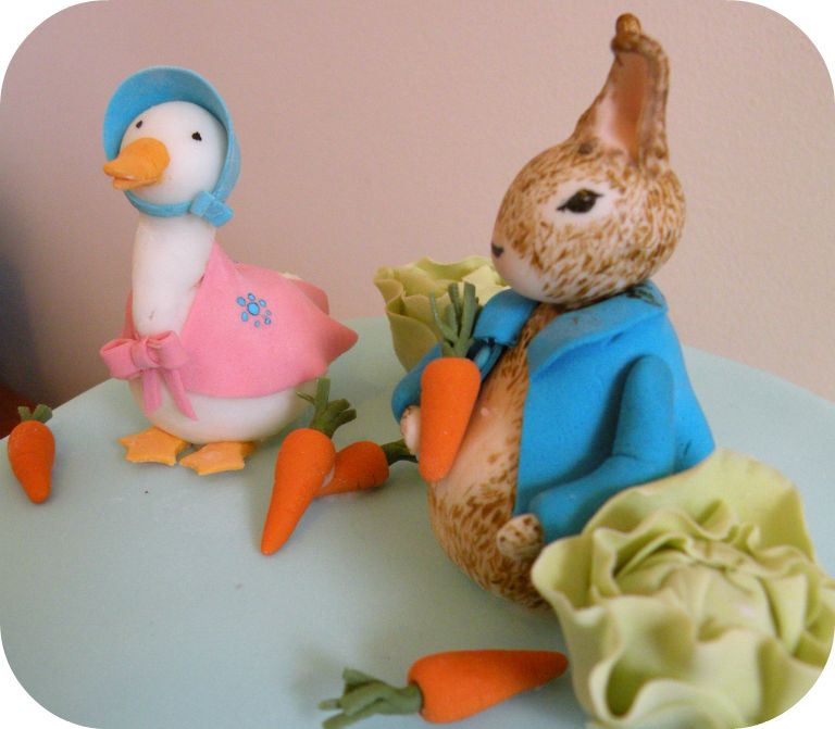 Peter Rabbit Cottontail Cake